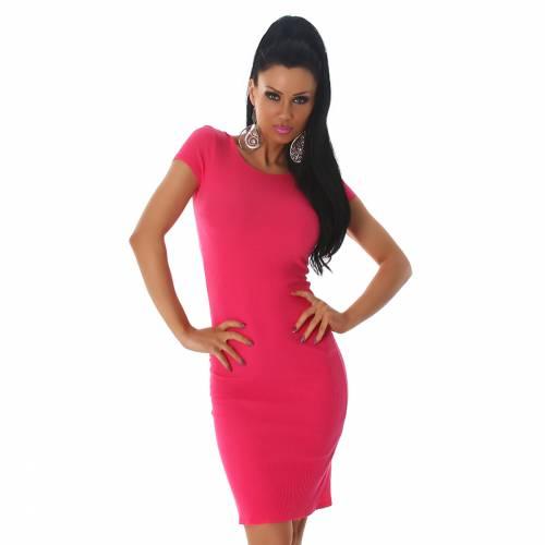Feinripp Kleid - pink
