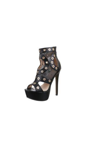 Nieten High Heels - black