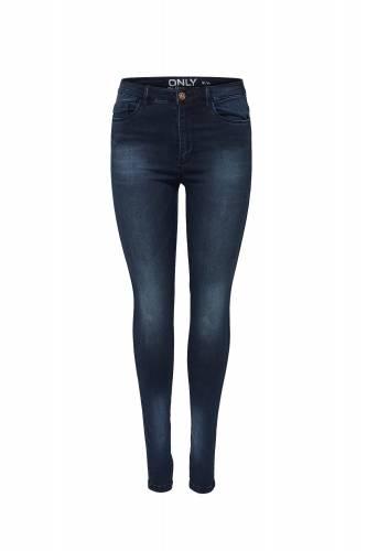 High Waist Jeans - dark blue