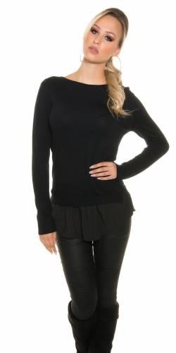 2in1 Pullover - black