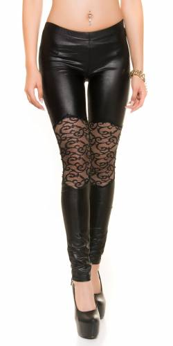 Spitzen Leggings - black