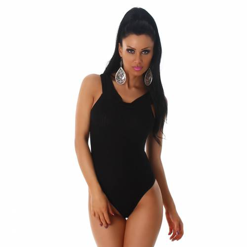 Feinripp Body - black