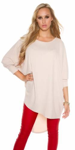 HighLow Oversize Longshirt - beige