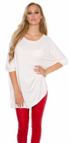 HighLow Oversize Longshirt - creme