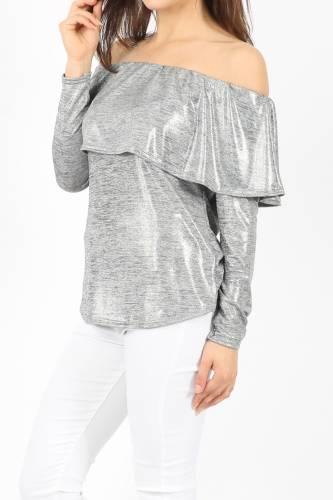 Melange Top - silver