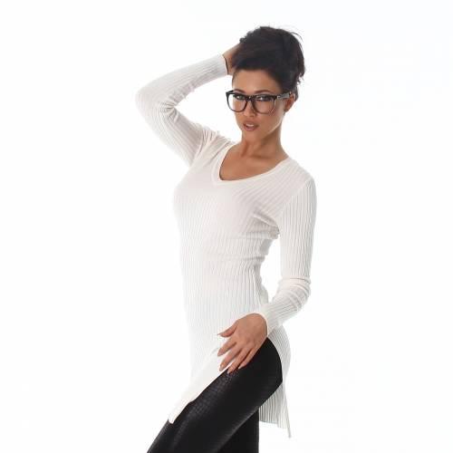 Longpullover - white