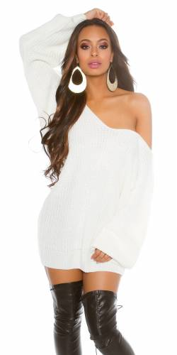 XL Strickpulli - white
