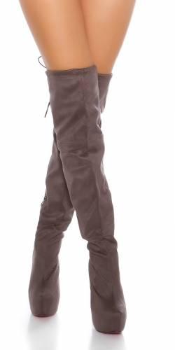 Overknee-Stiefel - grey