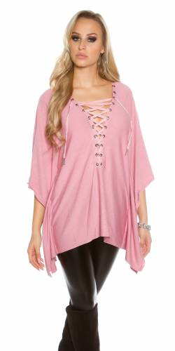 Poncho Pulli - old rose