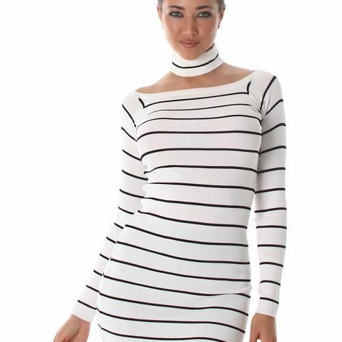 Stripes Pullover - white