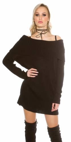 XL Strickpulli - black