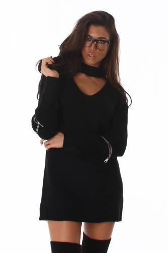 Strick-Pullover - black