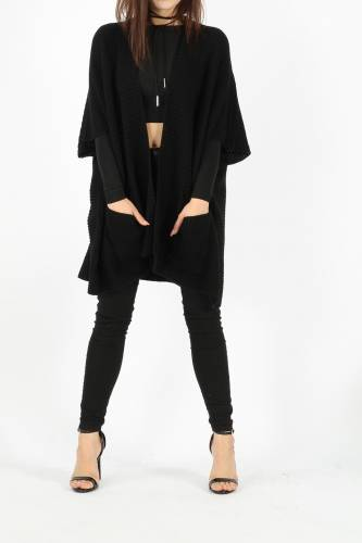 Strick Cardigan - black