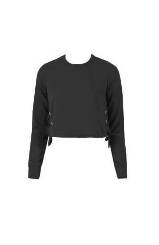 Short Pullover - black