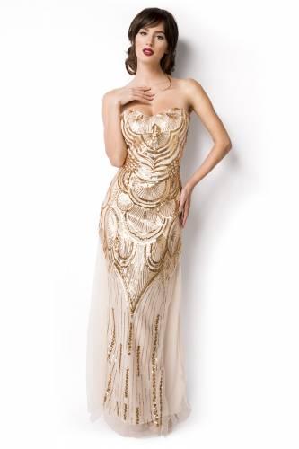Abendkleid - beige