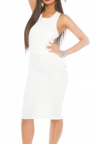 Volant Kleid - white