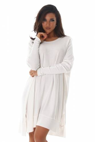 Longstrickpulli - white