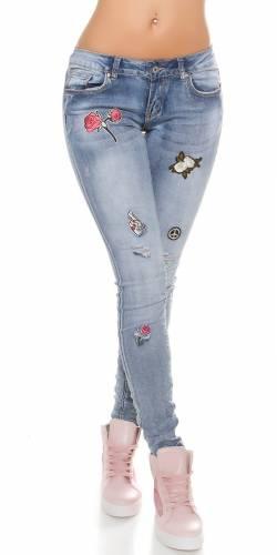 Patch Jeans - blue