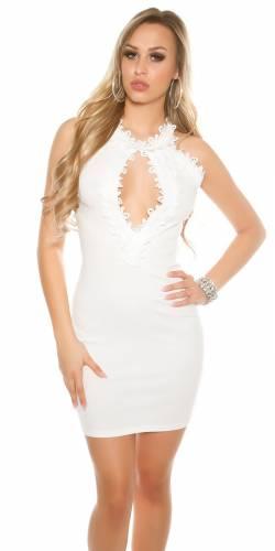 Ripp Minikleid - white