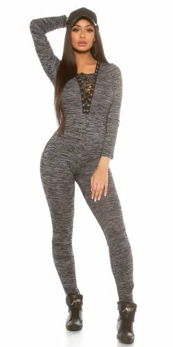 Fineknit Overall - black