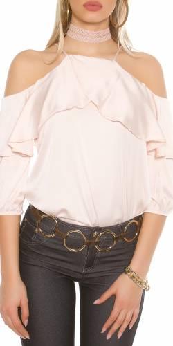 Volant Shirt - rose