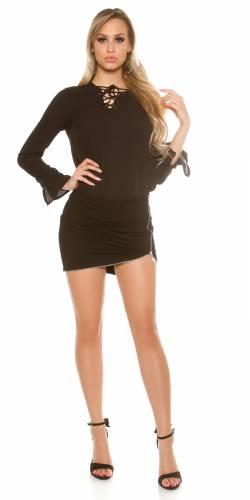 Langarm-Bluse - black