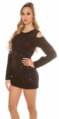 Coldshoulder Sweater - black