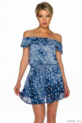 Carmen Kleid - blue