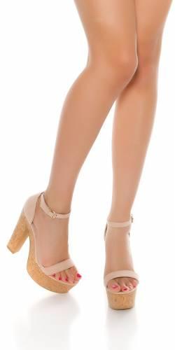 High Heel Sandale - old rose