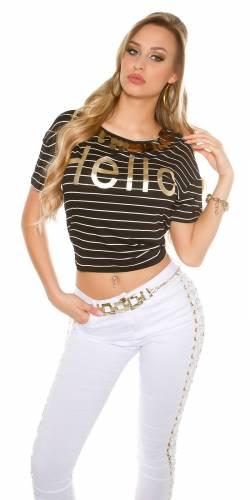 Shirt Hello - black