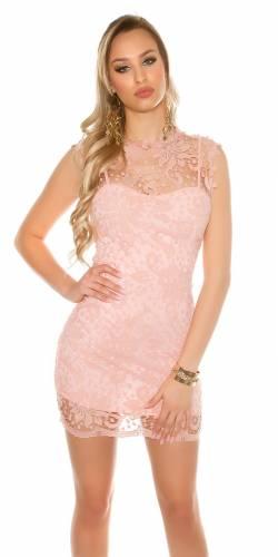 Spitzenetui Kleid - rose