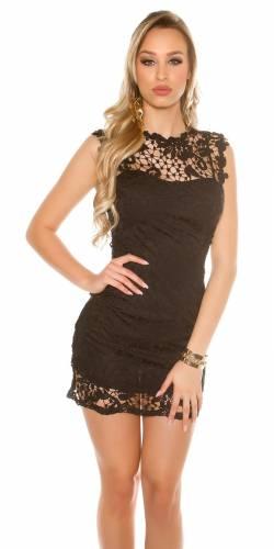 Spitzenetui Kleid - black