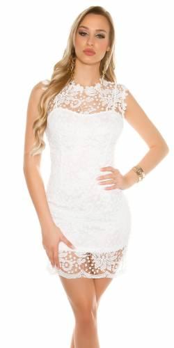 Spitzenetui Kleid - white