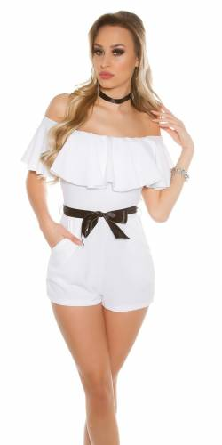 Playsuit Volant - white
