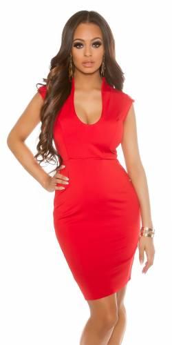 Kleid V-Cut - red