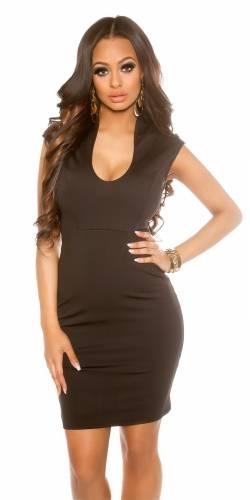 Kleid V-Cut - black
