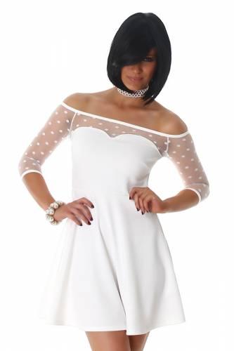 Bandeau Kleid - white