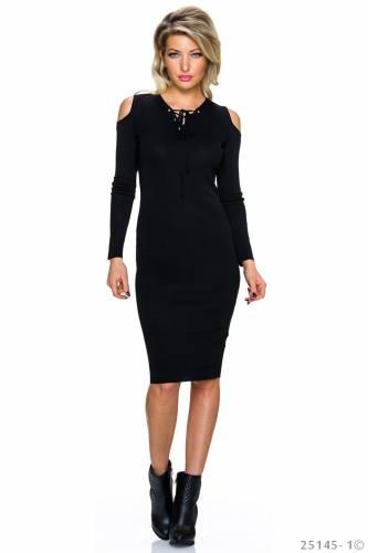 Long Kleid - black