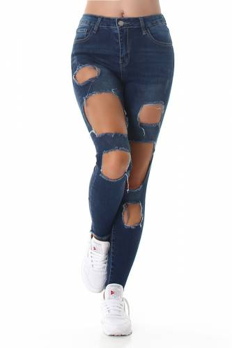 Jeans Destroyed - dark blue