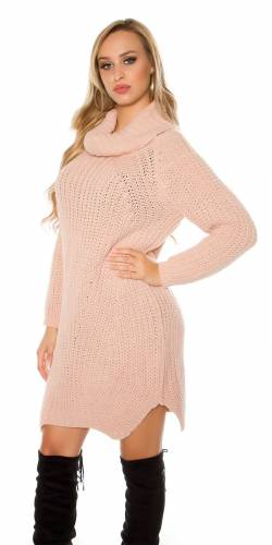 Long Strickpulli - old rose