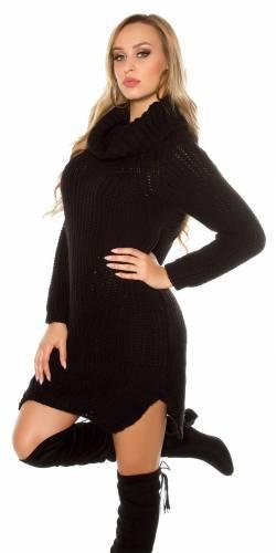 Long Strickpulli - black