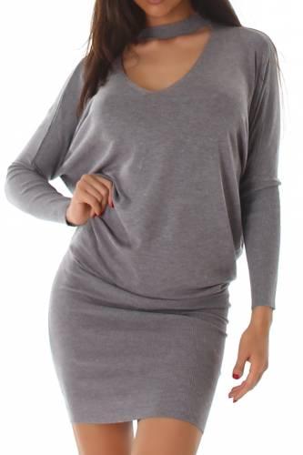 Strickkleid - grey