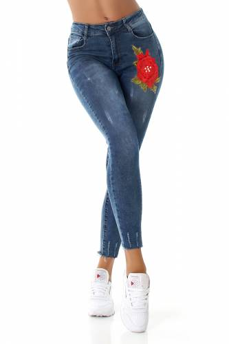 High Waist Jeans - blue