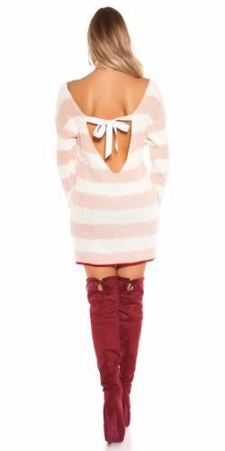 Feinstrick Minikleid - rose