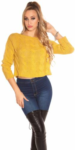Crop Pullover - yellow