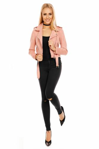 Lederlook Jacke - rose