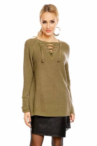Strick Pullover - khaki