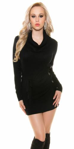 Strick-Kleid - black