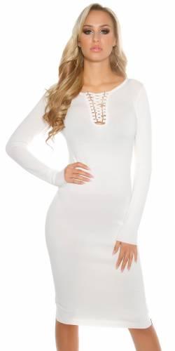 Strickkleid - white