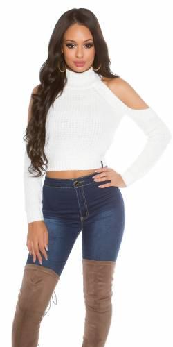 Crop Pullover - white